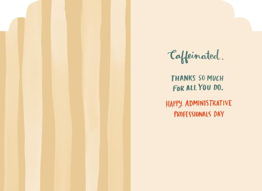 Cup of Coffee Admin Professionals Day Card,