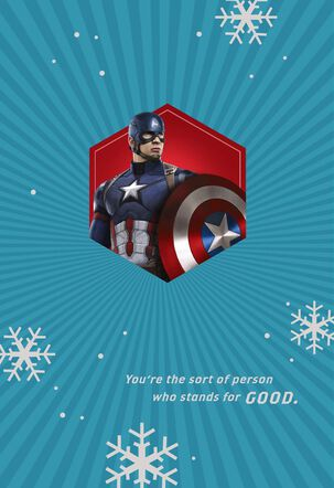 Marvel Captain America Christmas Card With Ornament