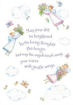 Bright Angel Days Thinking of You Card