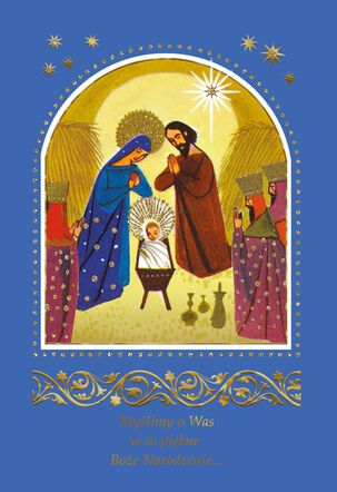 Nativity Scene Polish-Language Christmas Card