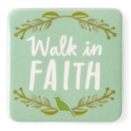 Walk in Faith Ceramic Magnet, , large