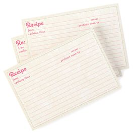 Floral Recipe Refill Cards, , large