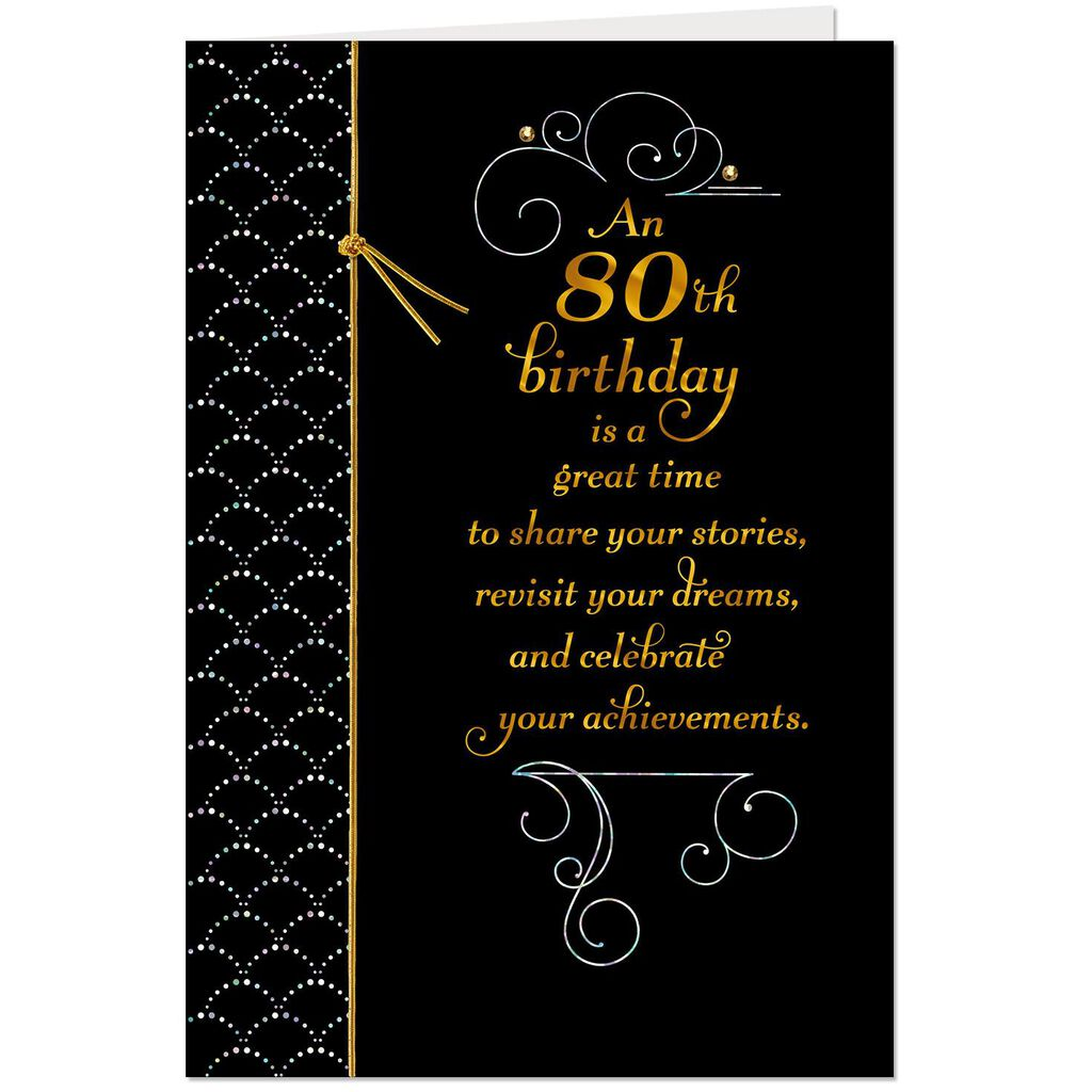 Celebrating You Today 80th Birthday Card