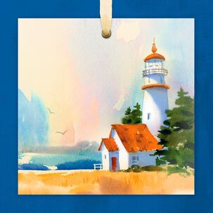 Watercolor Lighthouse Blank Card