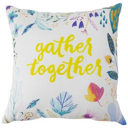 """Gather Together Pillow, 16"""" Square, , large"""