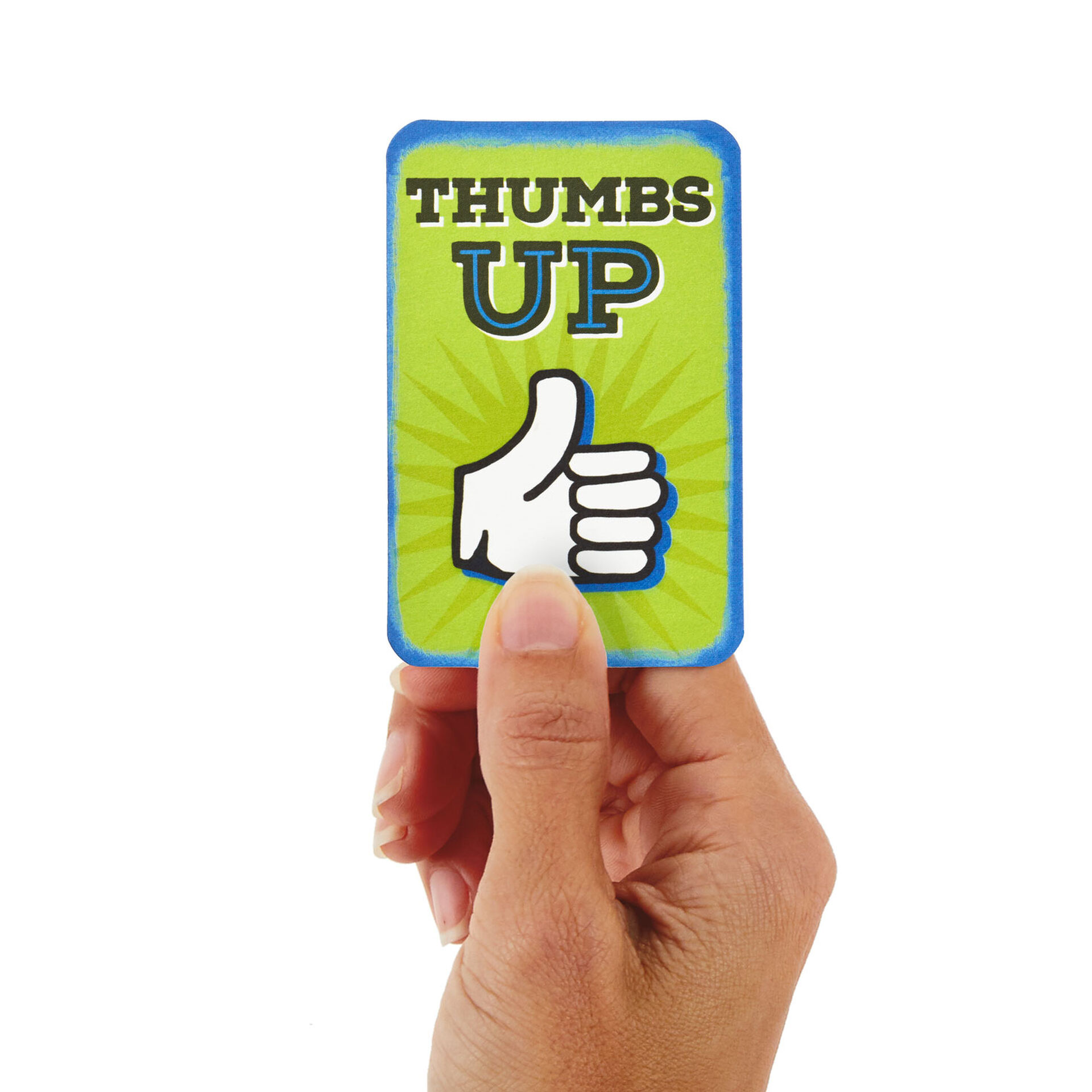 "3.25"" Mini Thumbs Up Pop Up Congratulations Card"