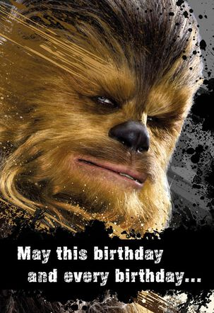 Star Wars™ Chewbacca™ Good Hair Day Birthday Sound Card