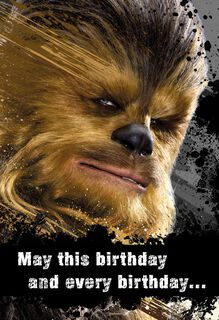 Star Wars™ Chewbacca™ Good Hair Day Birthday Sound Card,