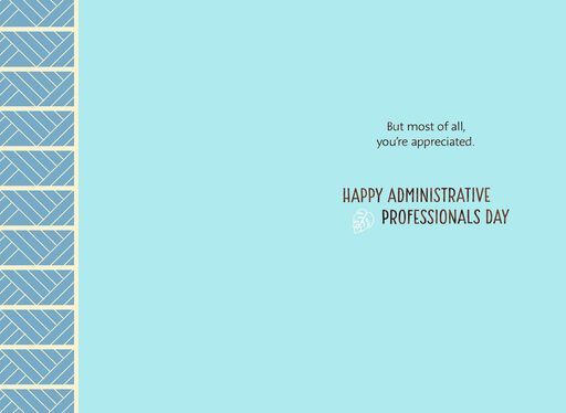 Thoughtful And Smart Admin Professionals Day Card