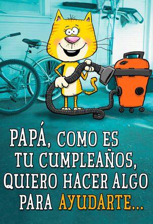 A Helpful Offer Spanish-Language Dad Birthday Card