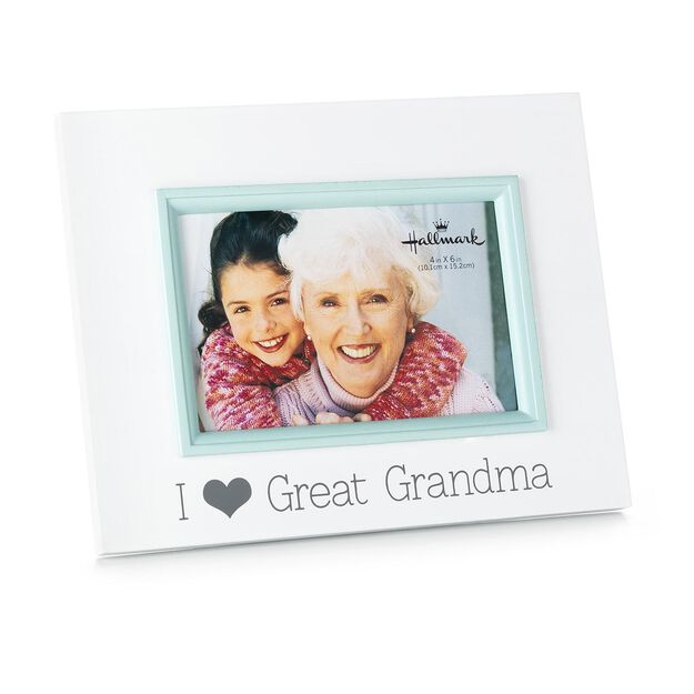 i love great grandma wood malden picture frame 4x6