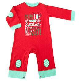 Holiday Daytime One-Piece Nice List, 0-3 Months, , large