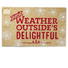 Holiday Snowflake Step Activated Led Lighted Doormat