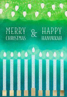 Merry Christmas and Happy Hanukkah Card,