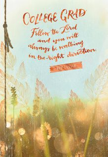 Follow the Lord Religious Graduation Card for College Graduates,