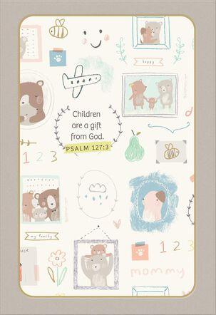 Children's Artwork Religious New Baby Card