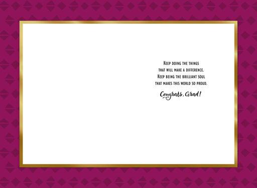 Jill Scott Make a Difference Graduation Card,
