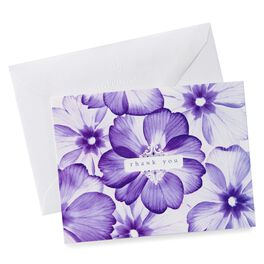 Purple Floral Thank You Notes, Pack of 10, , large