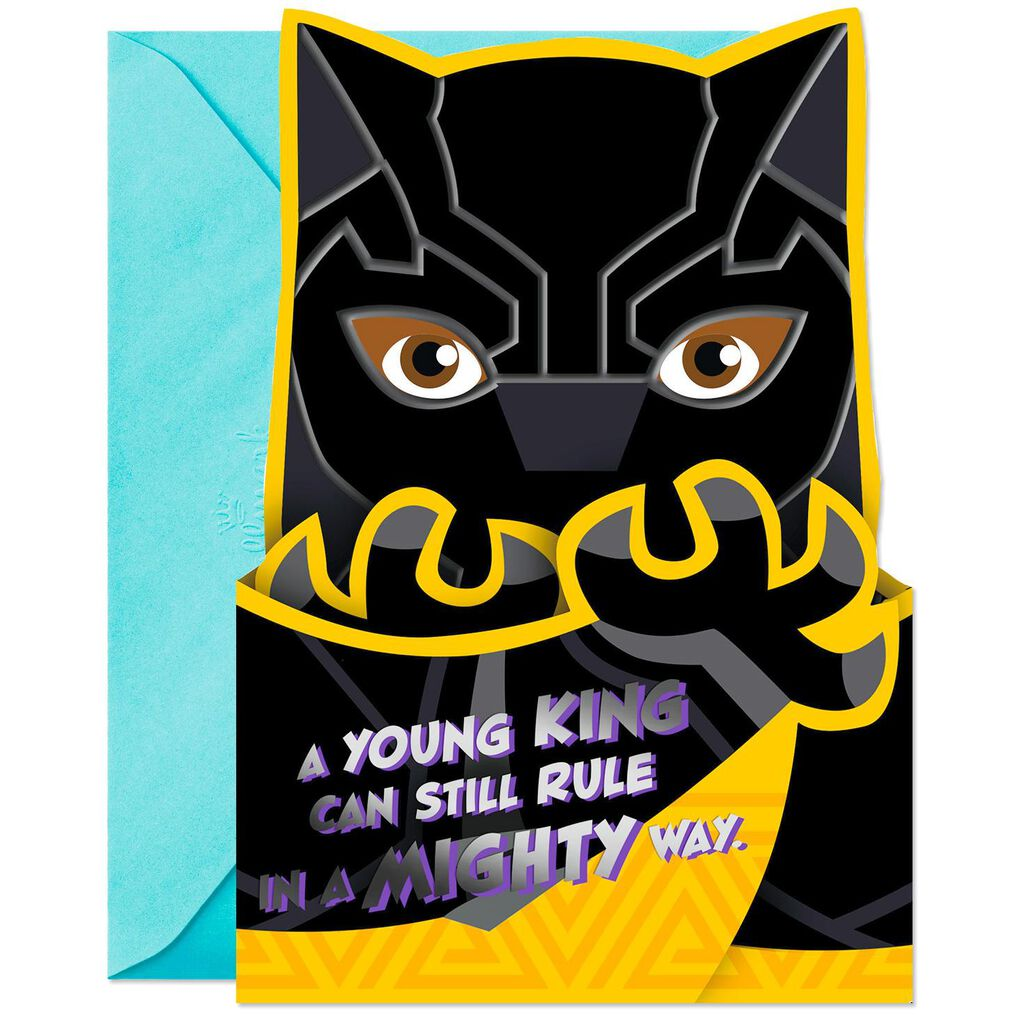 Black Panther Birthday Card For Boy