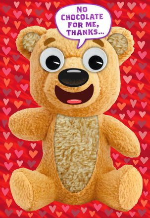 Too Stuffed Teddy Bear Funny Valentine's Day Card