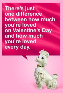 Card Is Gift Funny Valentine's Day Card,