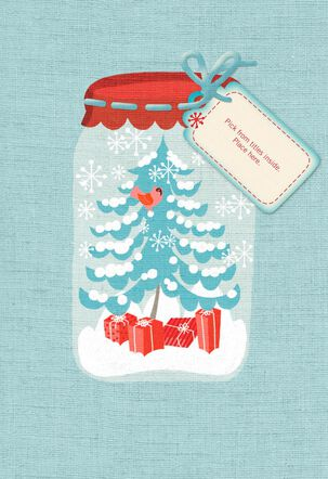Mason Jar Pick-a-Title Christmas Card for Grandma