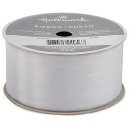 """White 1 1/2"""" Sheer Ribbon, 4.3 yds, , large"""