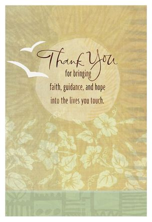 White Doves Religious Thank You Card