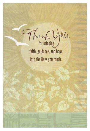 White Doves Religious Thank You Card