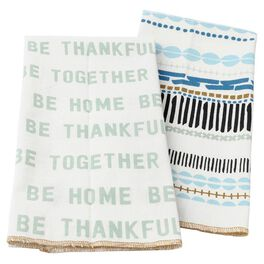 Home Thankful Together Tea Towels, Set of 2, , large