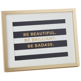 Be Beautiful Framed Print, , large