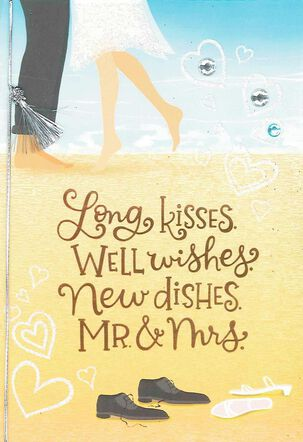Long Kiss Well Wishes Wedding Card