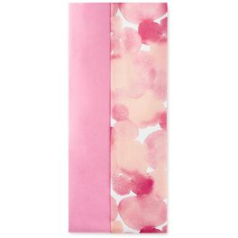 Solid Dark Pink and Watercolor Floral Pattern 2-Pack Tissue Paper, 6 Sheets, , large