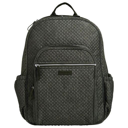 Vera Bradley Iconic Deluxe Campus Backpack In Denim Navy