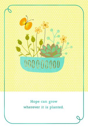 Succulents of Hope Encouragement Card