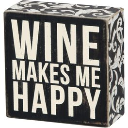 Primitives by Kathy Wine Makes Me Happy Box Sign, , large