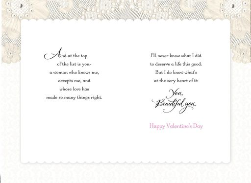 Lace Double Hearts Valentine's Day Card,