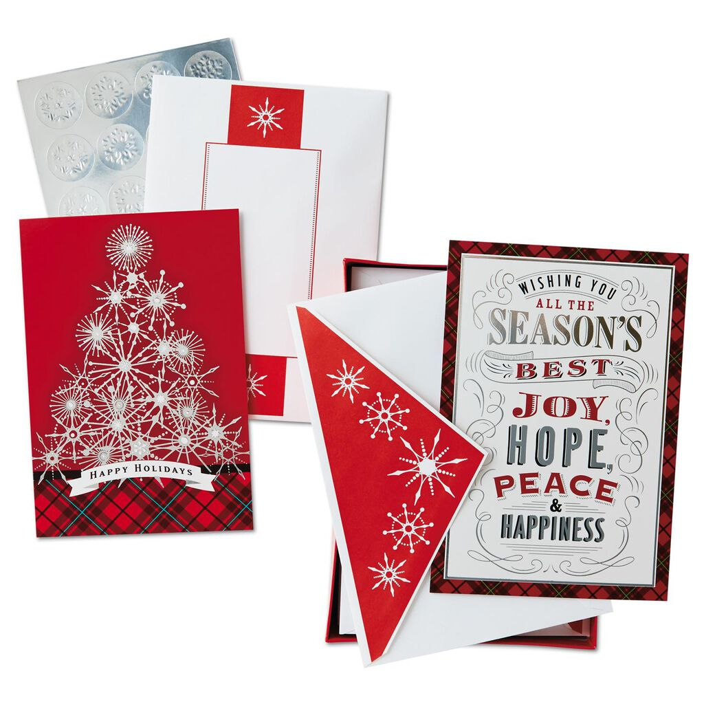 All the Best Assorted Christmas Cards, Box of 40 - Boxed Cards ...