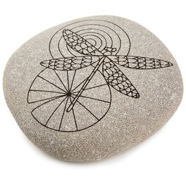 Dragonfly DIY Coloring Rock, , large