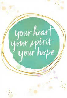 Heart, Spirit, Hope Encouragement Card,