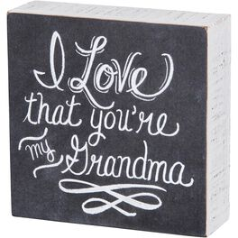 Primitives by Kathy You're My Grandma Chalk Sign, , large
