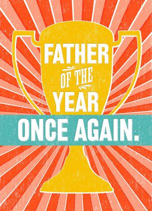 Father of the Year Trophy Father's Day Card