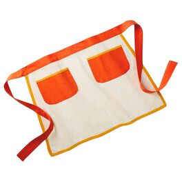 Orange and Cream 2-Pocket Bistro Apron, , large