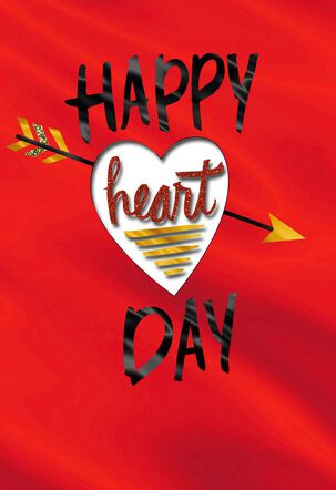 Peek Through Heart Valentine's Day Card