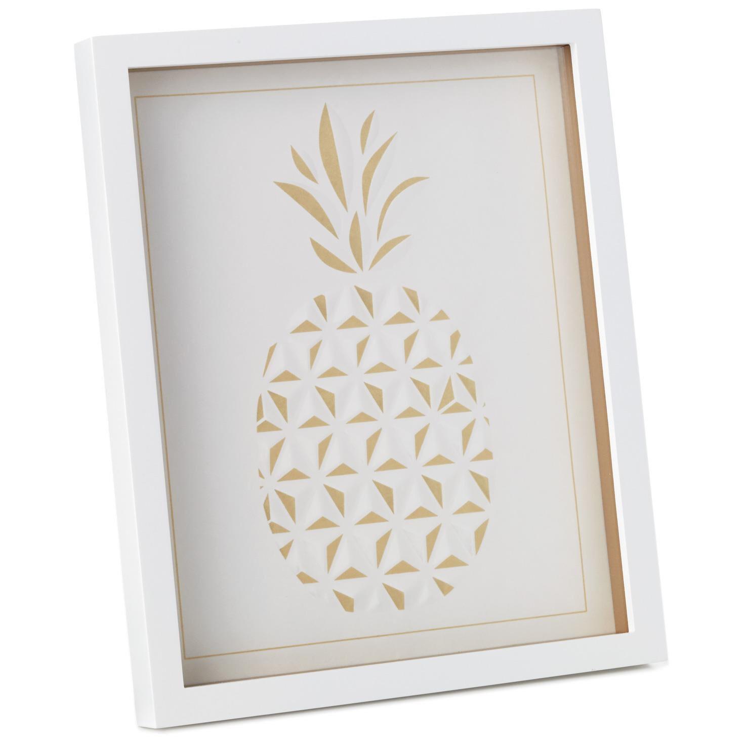 Gold Pineapple Framed Print