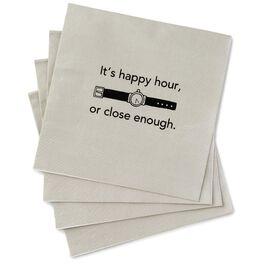 Happy Hour Beverage Napkins, Pack of 20, , large