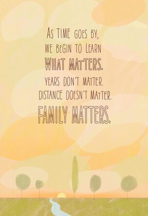 Family Matters Birthday Card
