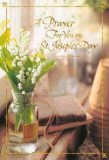 Lily of the Valley St. Joseph's Day Prayer Card,