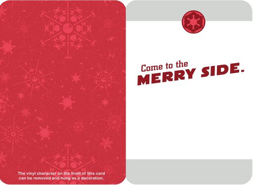 Merry Side Darth Vader™ Christmas Card With Ornament,