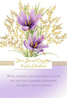 Marjolein Bastin Signs of Spring Easter Card for Daughter and Husband,